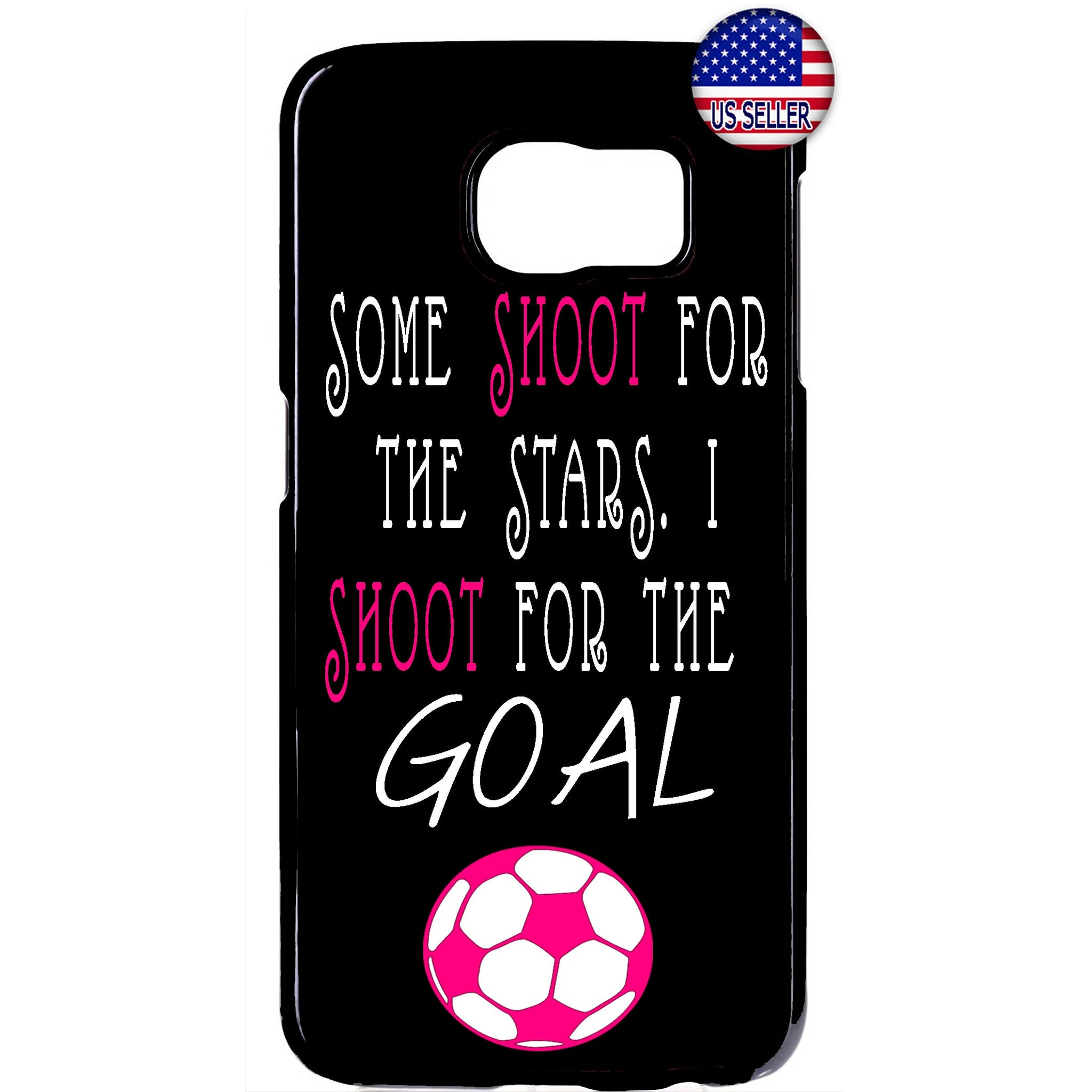 Pink Soccer Girl Futbol Sports Rubber Case Cover For Samsung Galaxy
