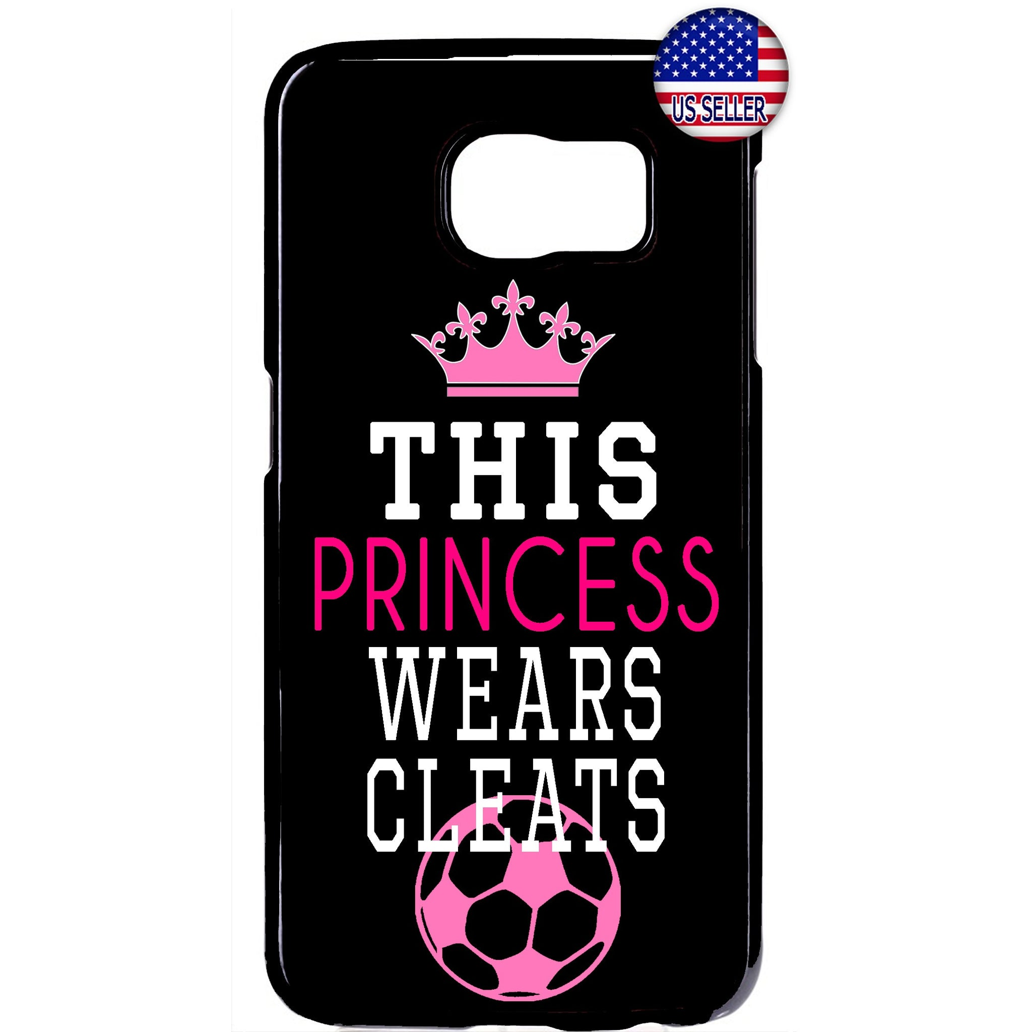 Princes W/ Cleats Soccer Futbol Rubber Case Cover For Samsung Galaxy
