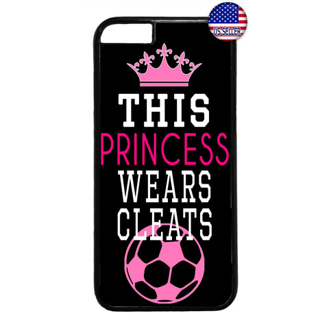 Princes W/ Cleats Soccer Futbol Rubber Case Cover For Iphone