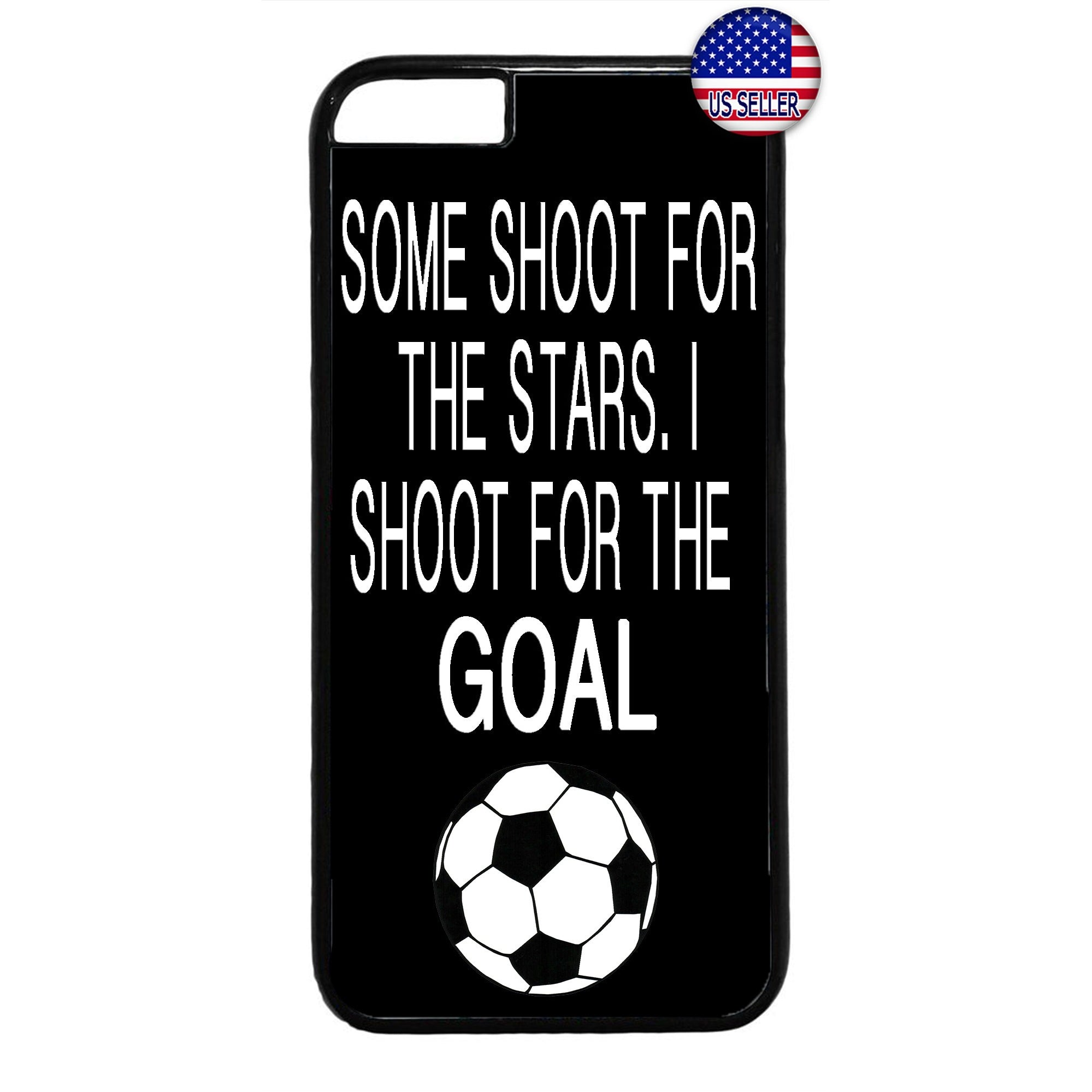 Shoot For The Goal Soccer Futbol Rubber Case Cover For Iphone