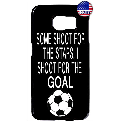 Shoot For The Goal Soccer Futbol Rubber Case Cover For Samsung Galaxy