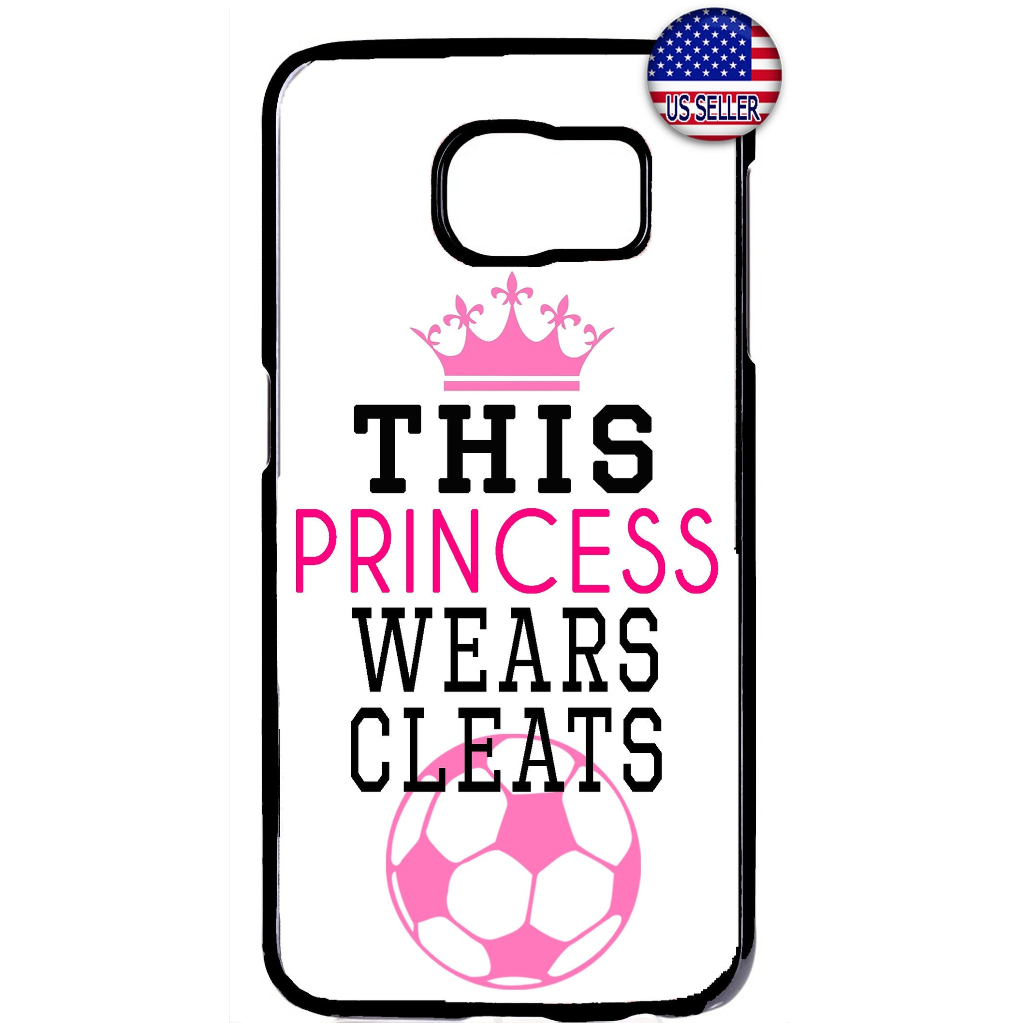 Soccer Princes With Cleats Futbol Rubber Case Cover For Samsung Galaxy