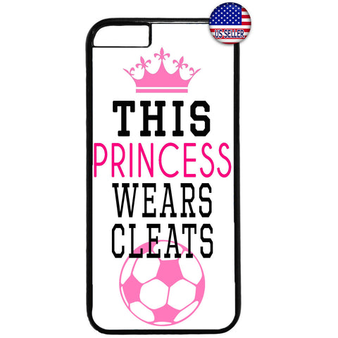 Soccer Princes With Cleats Futbol Rubber Case Cover For Iphone