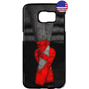 Red Ballerina Shoes Art Ballet Dancer Rubber Case Cover For Samsung Galaxy