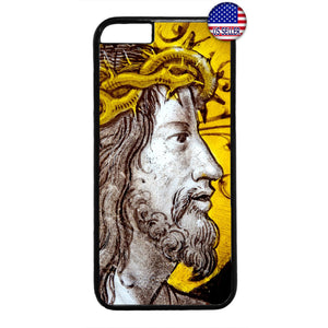 Jesus Christ W/ Crown Christian Bible Rubber Case Cover For Iphone