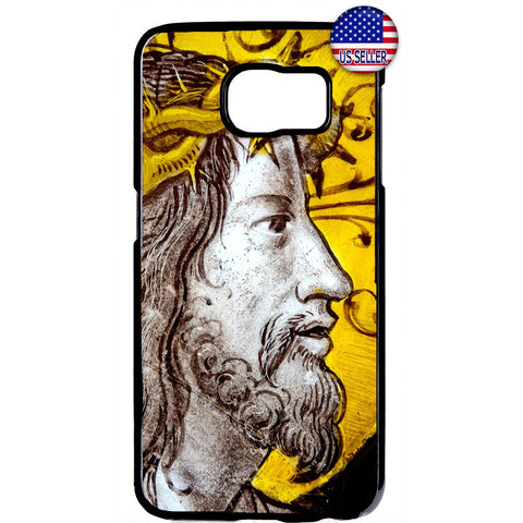 Jesus Christ W/ Crown Christian Bible Rubber Case Cover For Samsung Galaxy