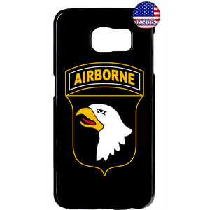 Black Airborne Eagle USA Military Forces RUbber Case Cover For Samsung Galaxy
