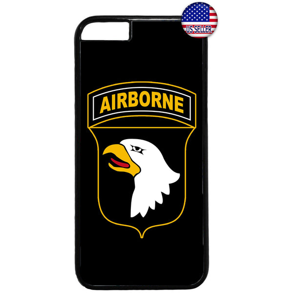 Black Airborne Eagle USA Military Forces RUbber Case Cover For Iphone