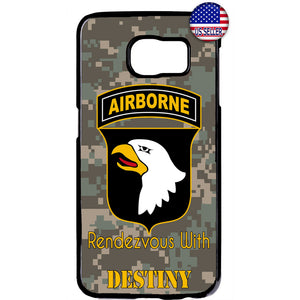 Camo Airborne Eagle USA Military Forces Rubber Case Cover For Samsung Galaxy