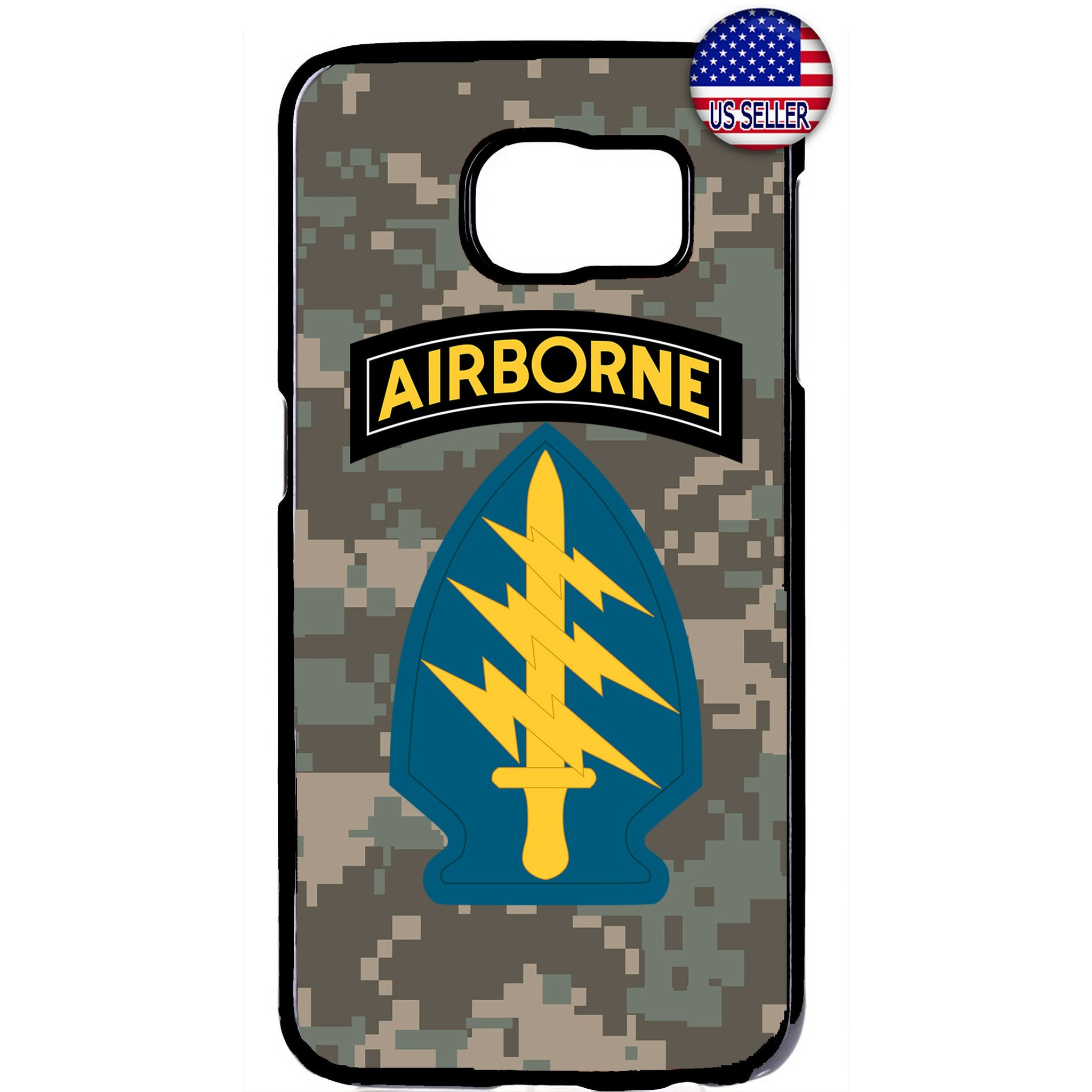 US Airborne Camo Sword Military Forces RUbber Case Cover For Samsung Galaxy Note