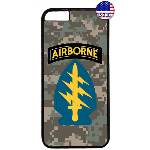 US Airborne Camo Sword Military Forces RUbber Case Cover For Iphone