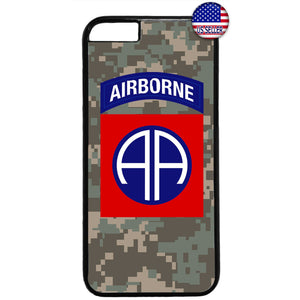 US Airborne 82nd Camo Military Forces RUbber Case Cover For Iphone