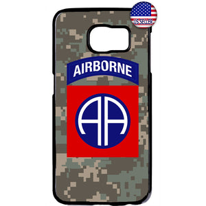 US Airborne 82nd Camo Military Forces RUbber Case Cover For Samsung Galaxy