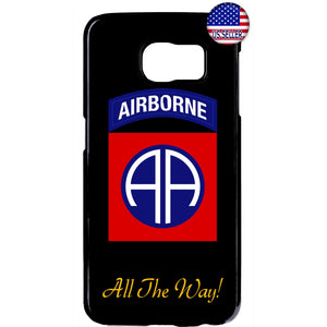 US Airborne All The Way Military Forces RUbber Case Cover For Samsung Galaxy
