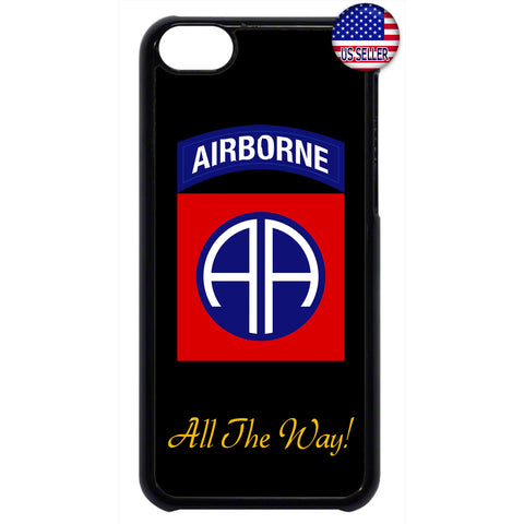 US Airborne All The Way Military Forces RUbber Case Cover For Ipod Touch