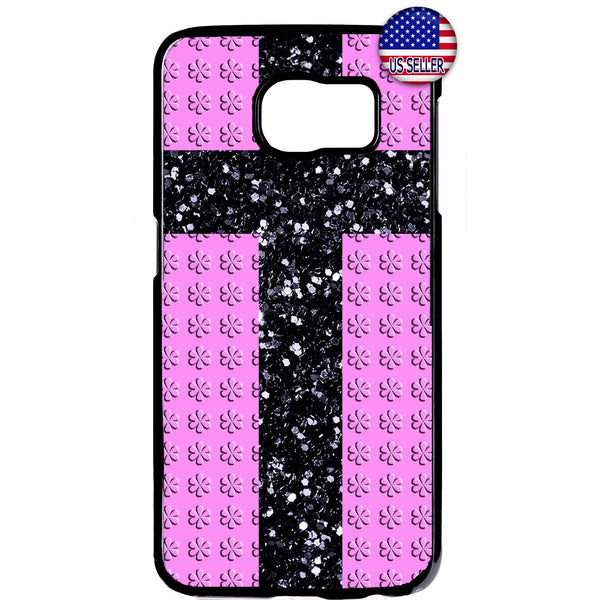 Christ Cross Pink Floral Christian Rubber Case Cover For Samsung Galaxy