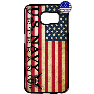 USA Flag Navy Veteran Military Forces Rubber Case Cover For Samsung Galaxy