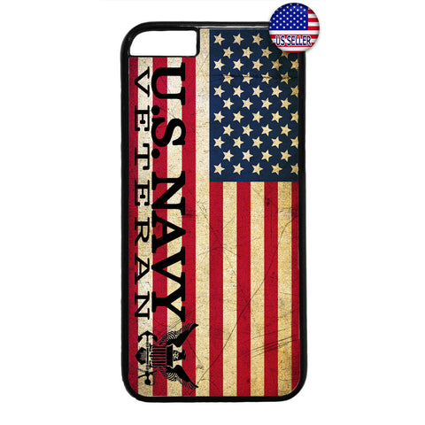 USA Flag Navy Veteran Military Forces Rubber Case Cover For Iphone