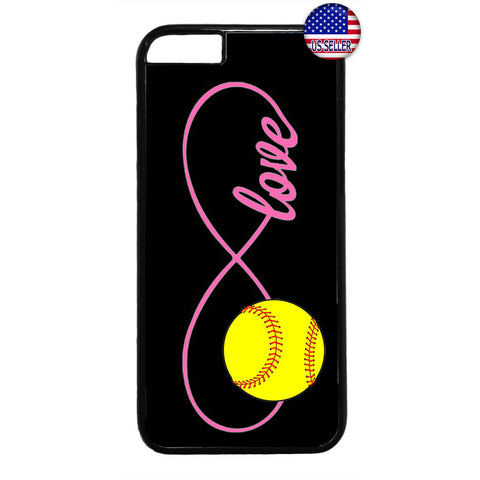 Pink Infinite Forever Softball Sports Rubber Case Cover For Iphone