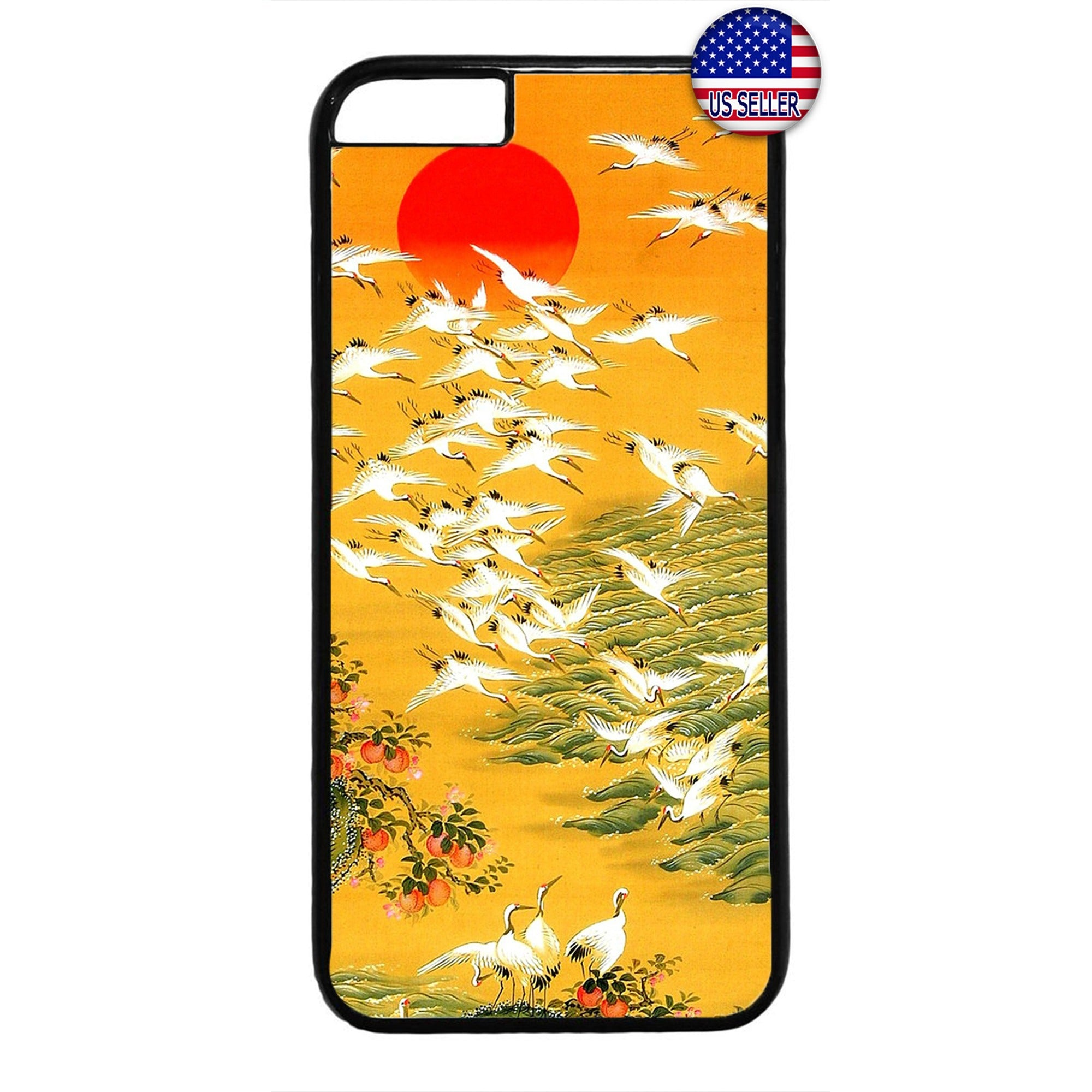 Japanese Art Swan Summer Japan Asia Rubber Case Cover For Iphone