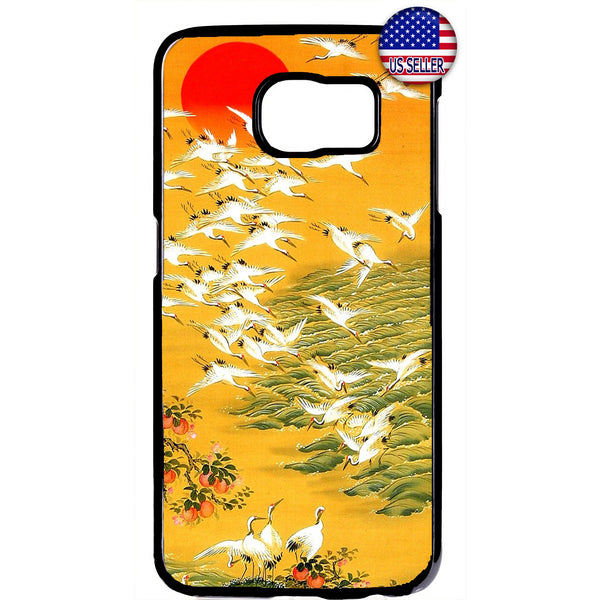 Japanese Art Swan Summer Japan Asia Rubber Case Cover For Samsung Galaxy