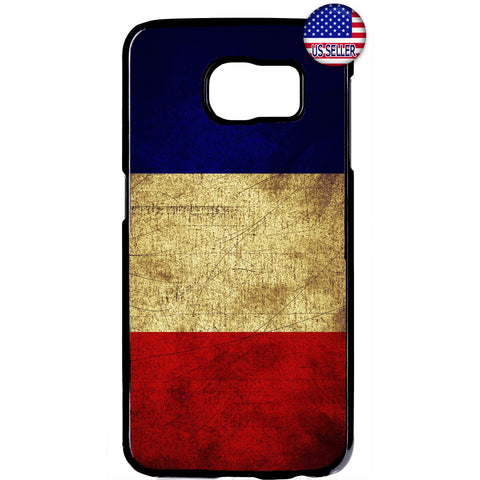 Grunge France Flag French Pride Rubber Case Cover For Samsung Galaxy