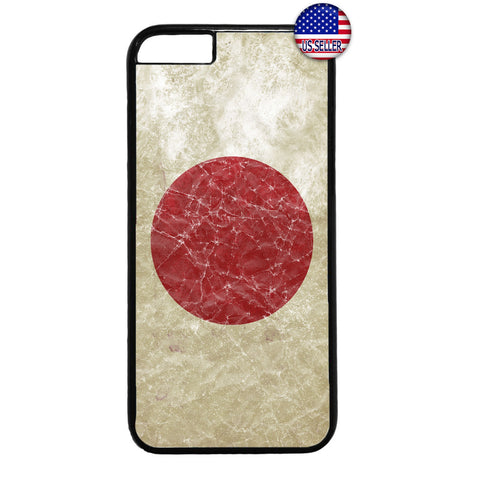 Grunge Japan Flag Red Sun Japanese Pride Rubber Case Cover For Iphone