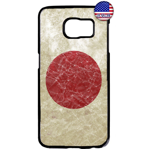 Grunge Japan Flag Red Sun Japanese Pride Rubber Case Cover For Samsung Galaxy