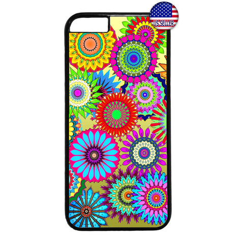 Hippie Floral Art Flower Garden Rubber Case Cover For Iphone