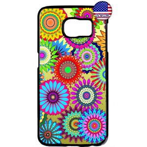 Hippie Floral Art Flower Garden Rubber Case Cover For Samsung Galaxy
