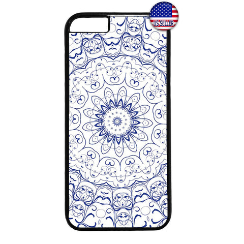 Blue mandala Henna Style Rubber Case Cover For Iphone