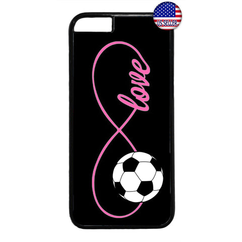 Pink Infinite Forever Soccer Sports Rubber Case Cover For Iphone