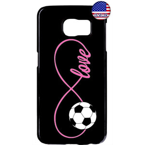 Pink Infinite Forever Soccer Sports Rubber Case Cover For Samsung Galaxy Note