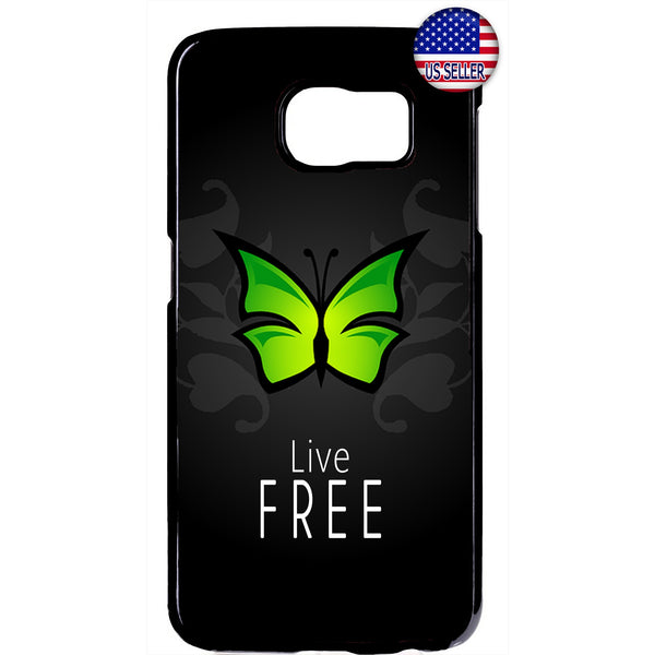 Butterfly Live Free Rubber Case Cover For Samsung Galaxy Note
