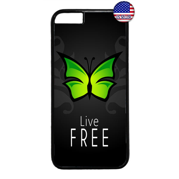 Butterfly Live Free Rubber Case Cover For Iphone