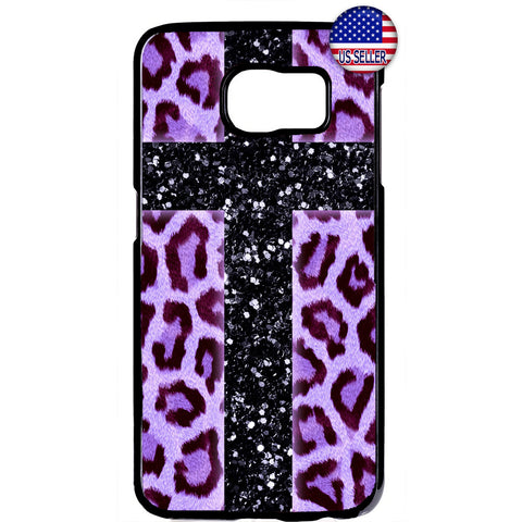 Pink Leopard Cross Print Wild Animal Rubber Case Cover For Samsung Galaxy