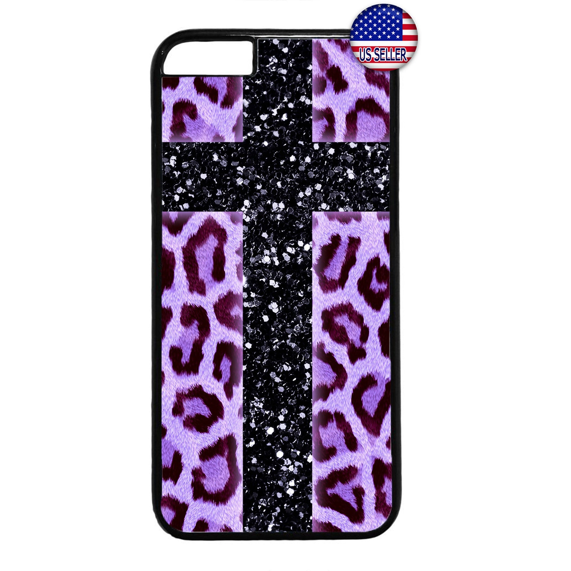 Pink Leopard Cross Print Wild Animal Rubber Case Cover For Iphone