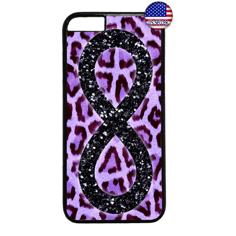 Pink Leopard Infinite Forever Wild Animal Rubber Case Cover For Iphone