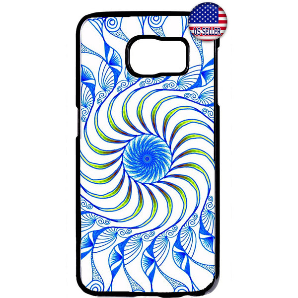 Spiral Mandala Hipster Rubber Case Cover For Samsung Galaxy