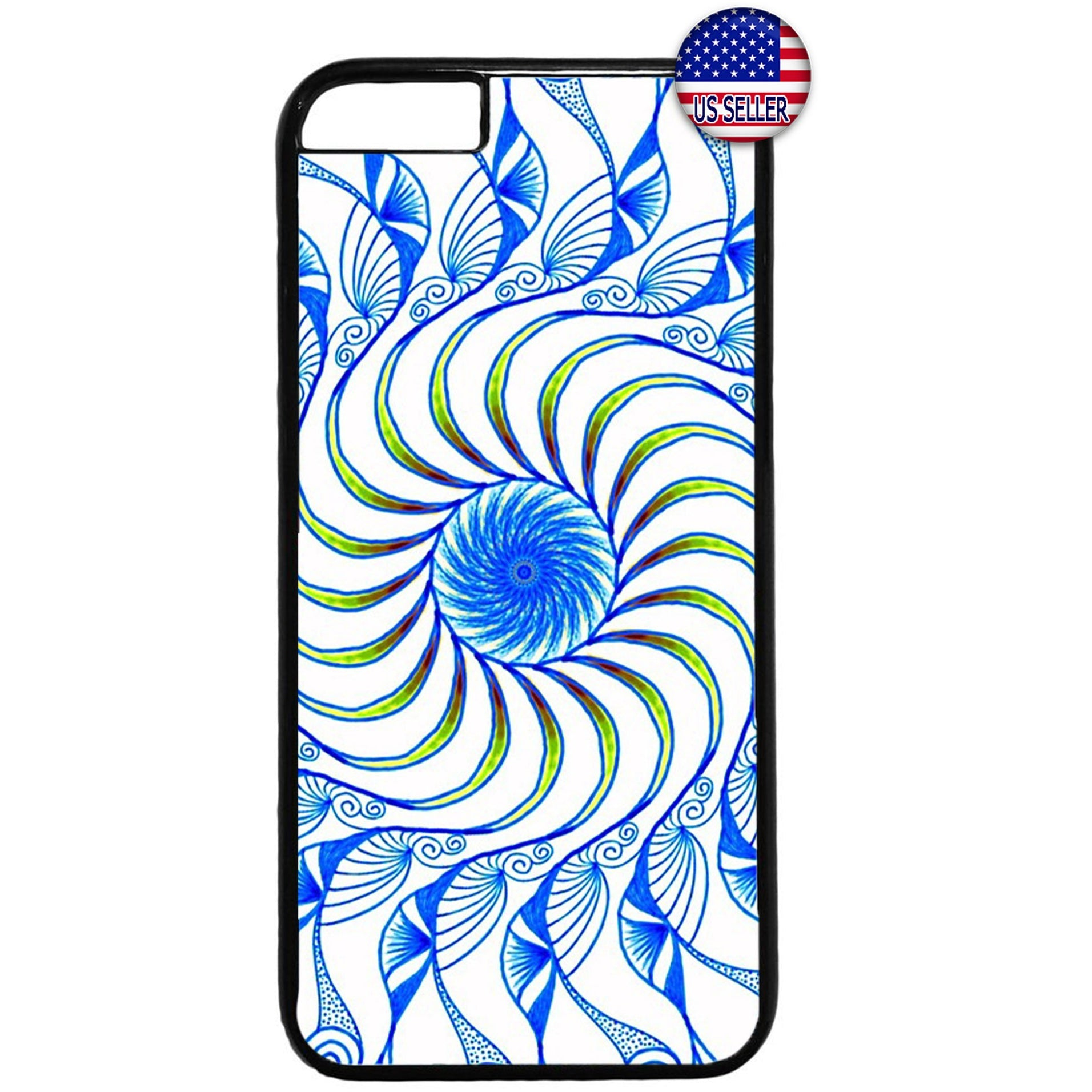 Spiral Mandala Hipster Rubber Case Cover For Iphone