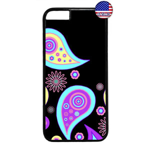 Paisley Fashion Floral Rubber Case Cover For Iphone