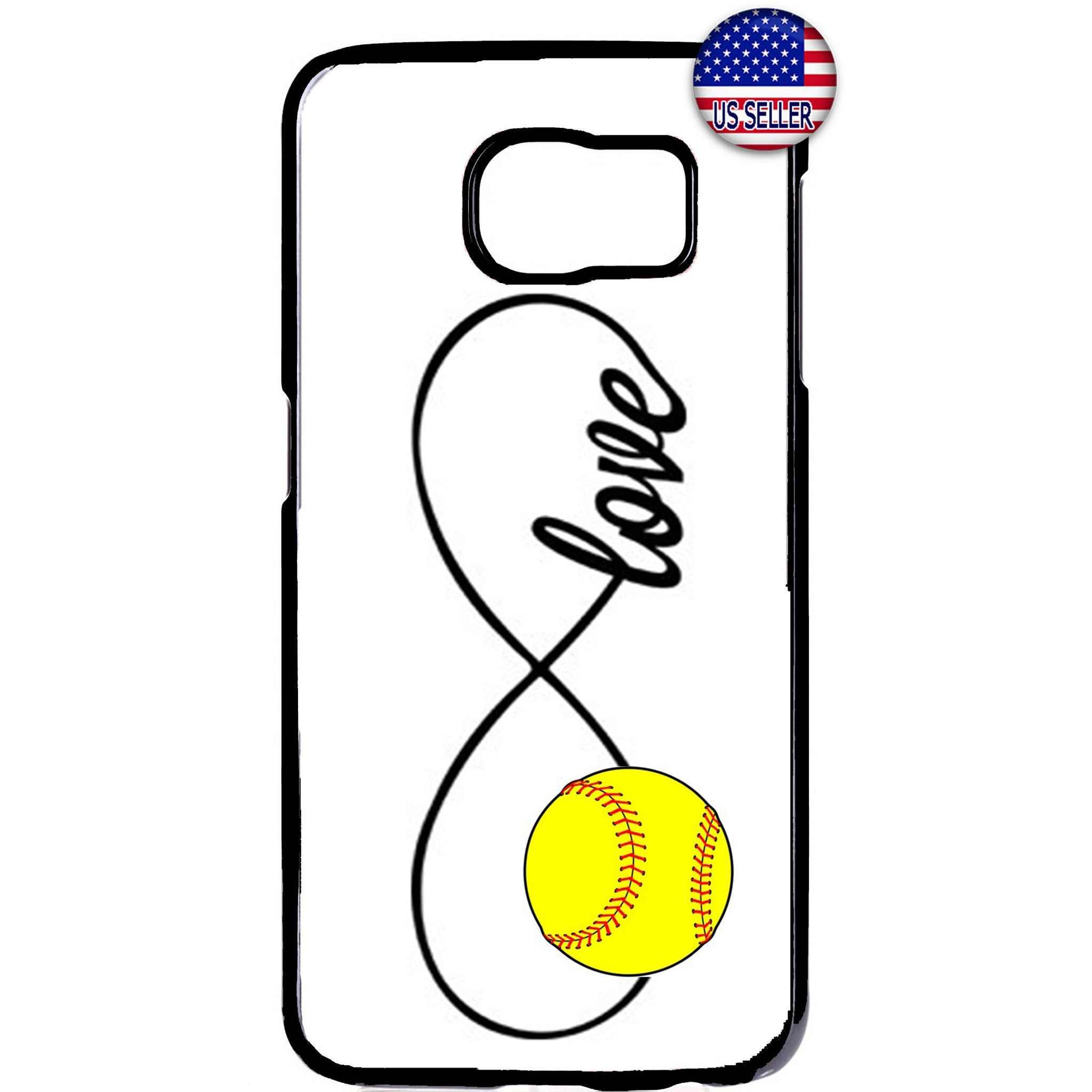 White Infinite Forever Softball Sports Rubber Case Cover For Samsung Galaxy Note