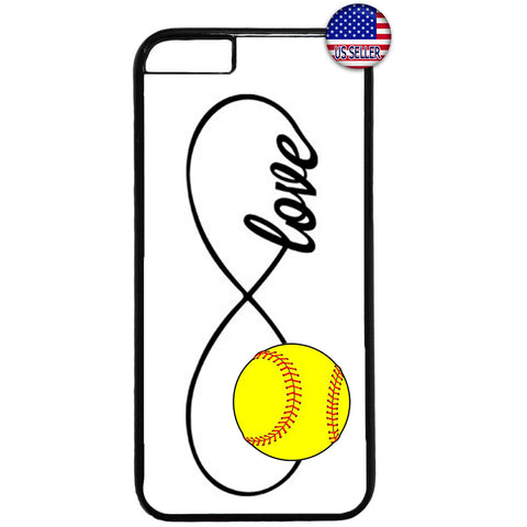 White Infinite Forever Softball Sports Rubber Case Cover For Iphone