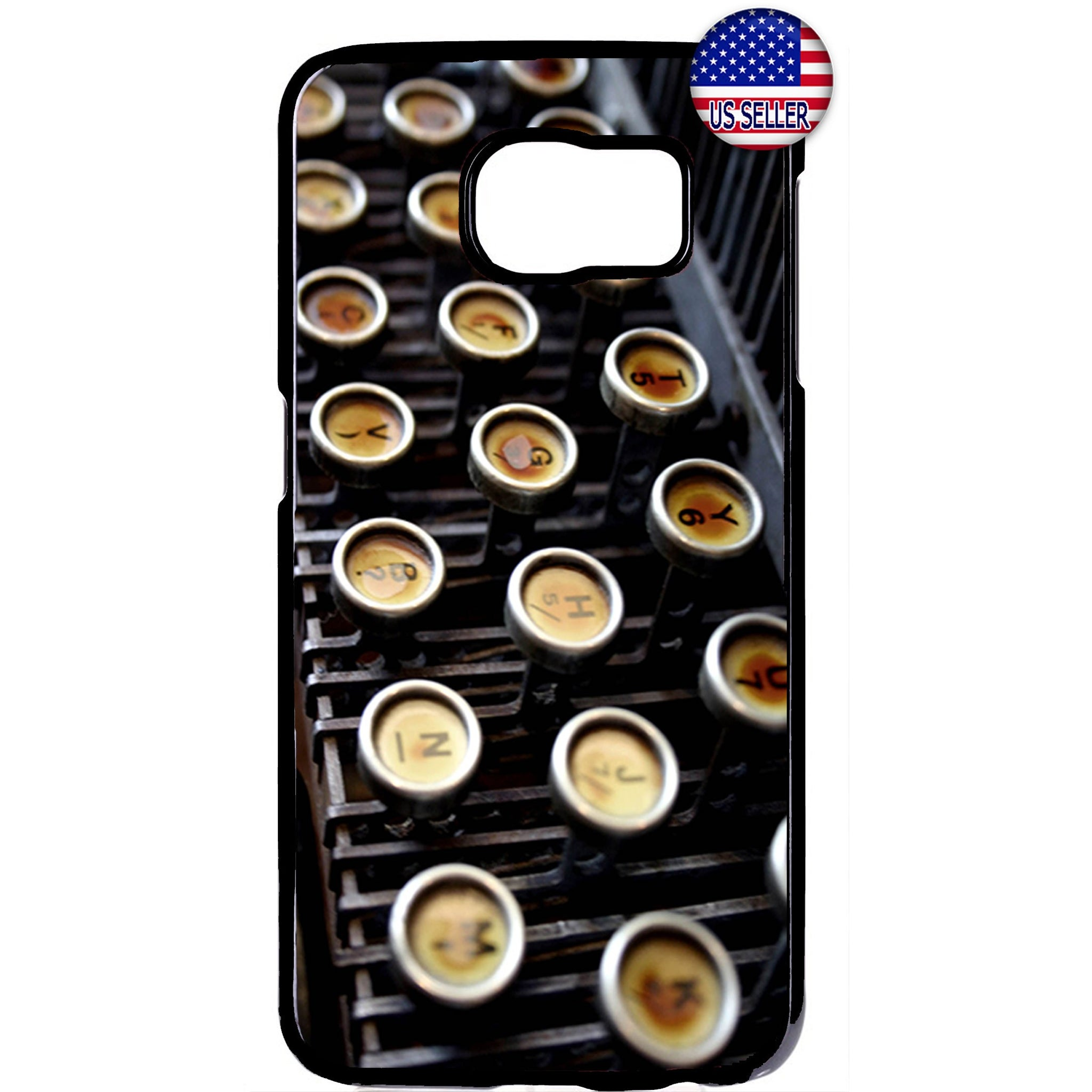 Vintage Retro Typewriter Rubber Case Cover For Samsung Galaxy Note
