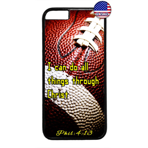 Football Christian Bible Verse Jesus Christ Rubber Case Cover For Iphone