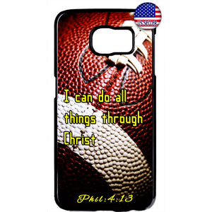 Football Christian Bible Verse Jesus Christ Rubber Case Cover For Samsung Galaxy