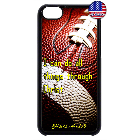 Football Christian Bible Verse Jesus Christ Rubber Case Cover For Ipod Touch