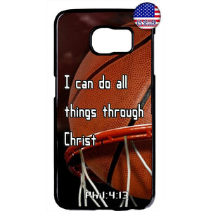 Basketball Christian Bible Verse Jesus Christ Rubber Case Cover For Samsung Galaxy