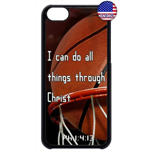 Basketball Christian Bible Verse Jesus Christ Rubber Case Cover For Ipod Touch