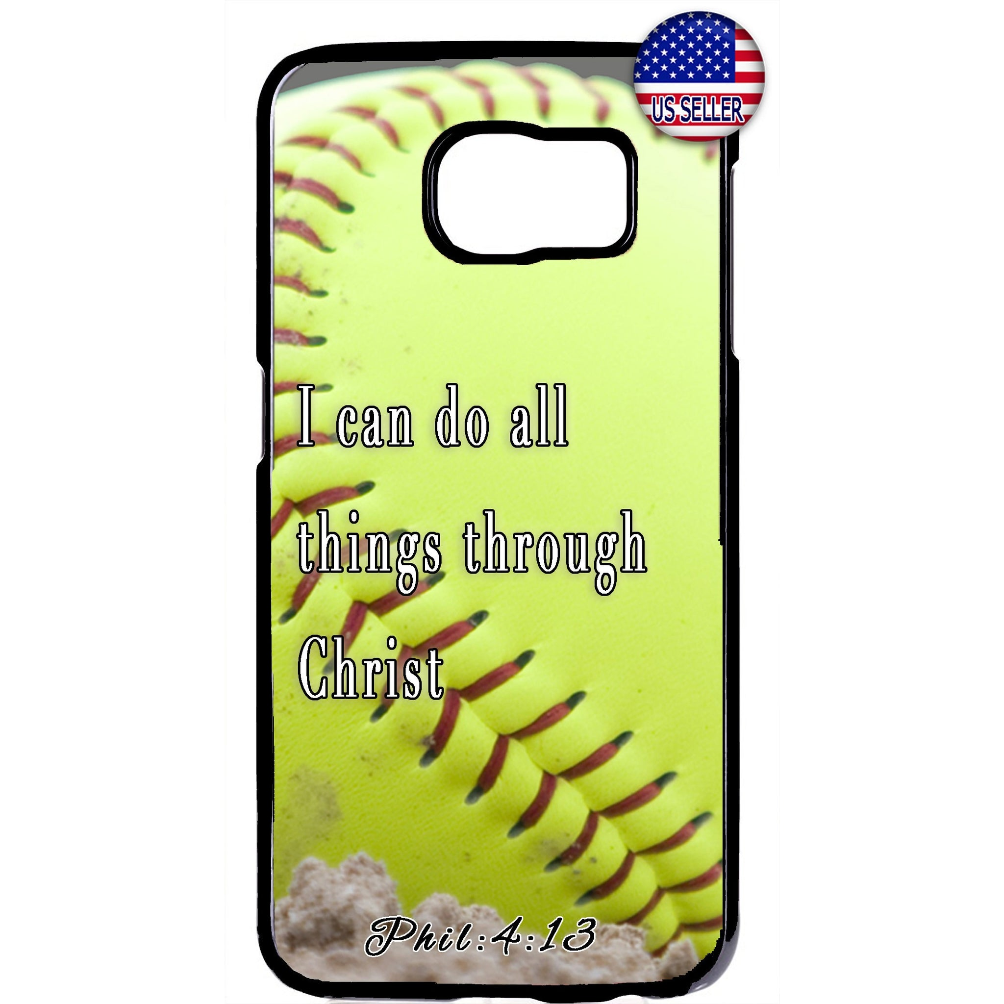Baseball Christian Bible Verse Jesus Christ Rubber Case Cover For Samsung Galaxy Note
